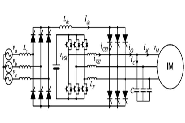 شبیه سازی اینورتر ترکیبی منبع جریان و منبع ولتاژ